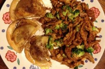 Sweet Potato Pierogies & BBQ Soy Curls by: J Shaw